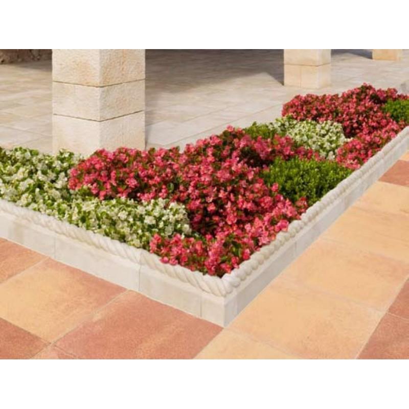 Bordillo para jardin de piedra artificial modelo corda for Arboles frondosos para jardin