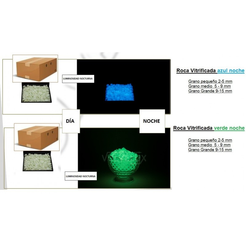 Piedra decorativa fluorescentes for Bordillos para jardin