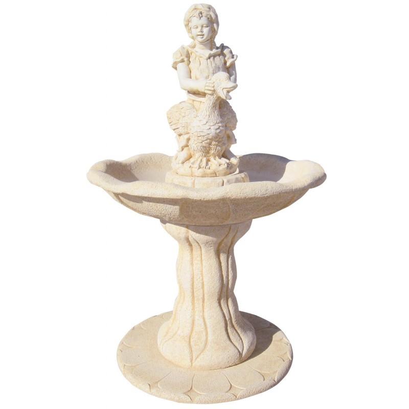 Fuente decorativa con figuras ornamentales para jardin - Fuentes de piedra artificial ...