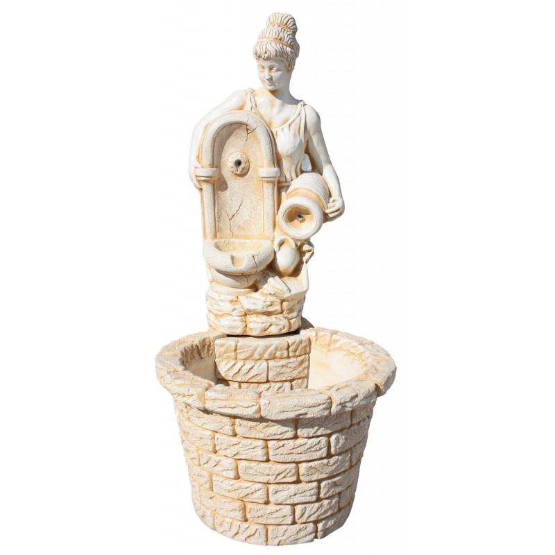 Pequeña fuente de jardín con figura de mujer CELIA
