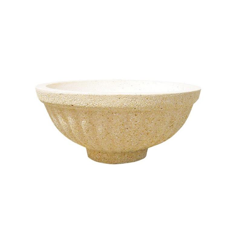 Jardinera redonda de granito niza for Granito artificial