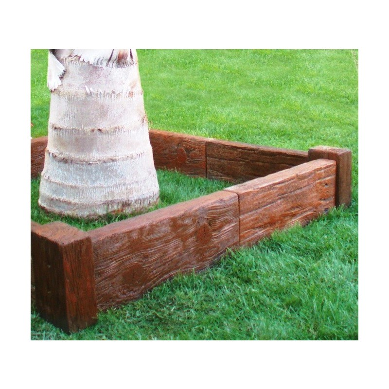 Bordillo para jardin imitacion madera asterix for Bordillos jardin