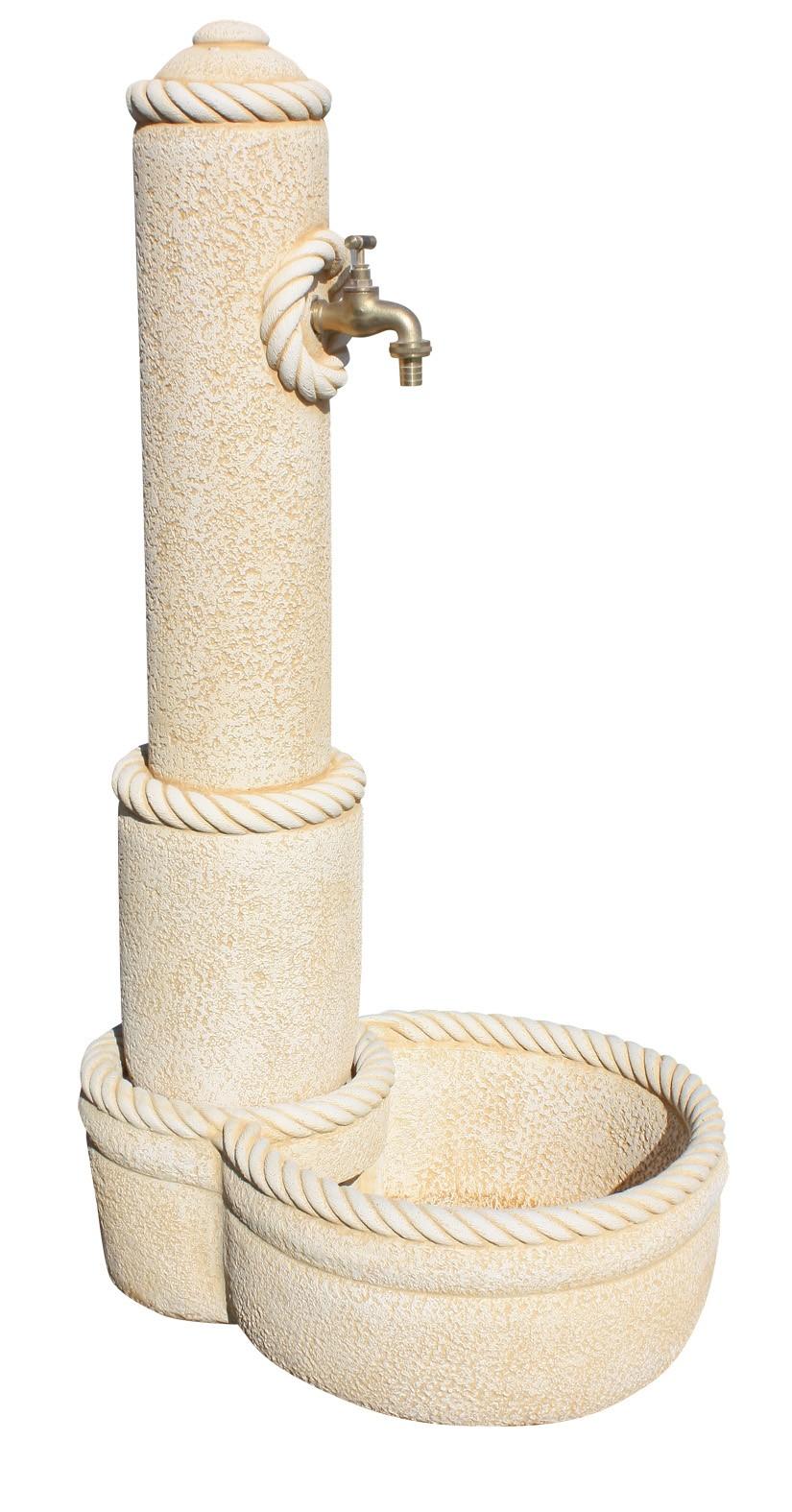Fuente de pared con grifo para jard n obelisco env o gratis - Fuentes de pared de piedra ...