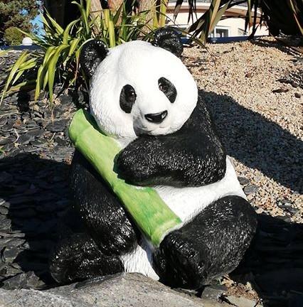 Oso panda decorativo para jardín